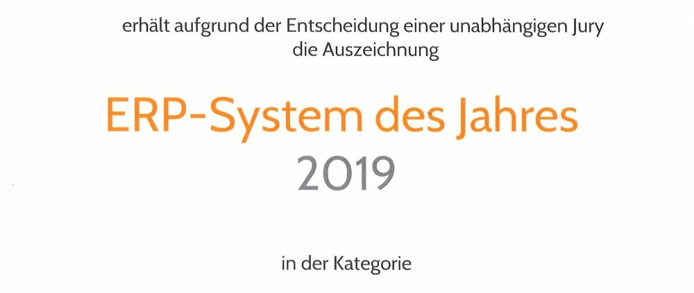 ERP-System des Jahres
